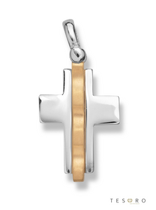 9ct white gold fancy cross