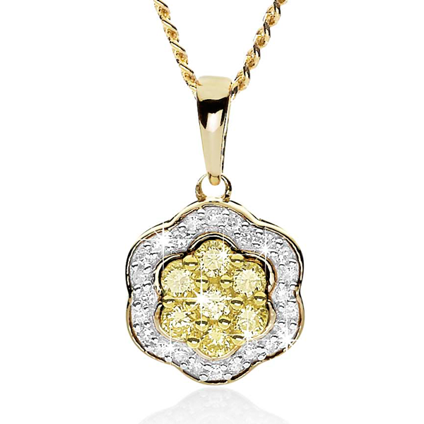 Desert Diamonds 9ct Yellow Diamond Pendant