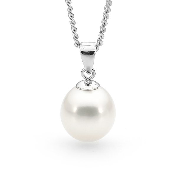 Ikecho White Freshwater Pearl Pendant