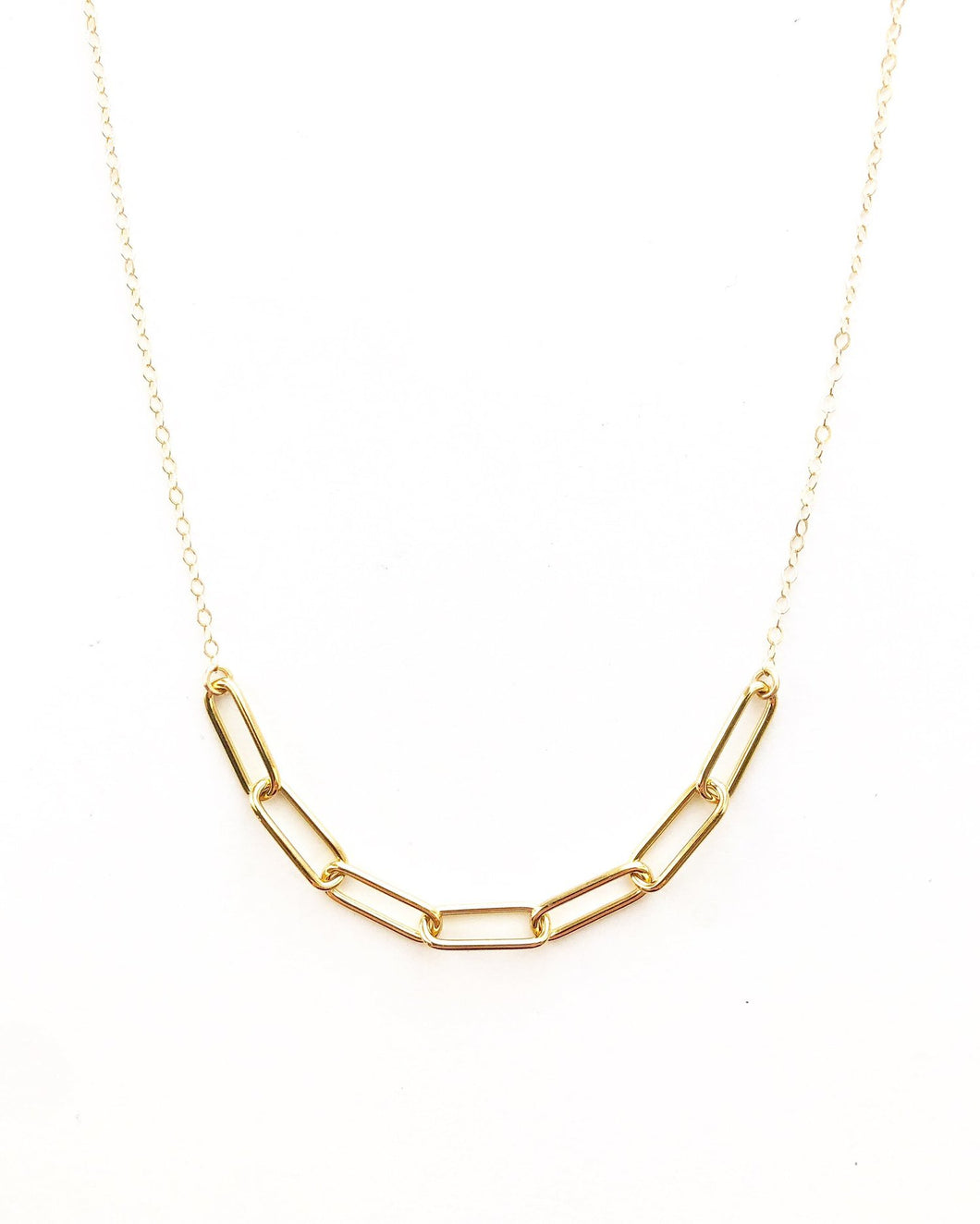 Open Links Bar Necklace