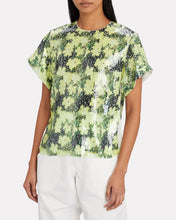 Load image into Gallery viewer, Floral Printed Sequin Top