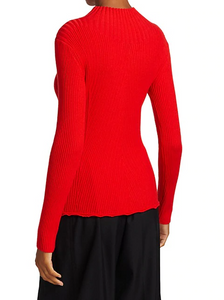 Long Sleeve Wool Ribbed Sweater