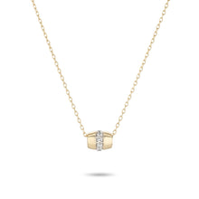 Load image into Gallery viewer, Super Tiny Stripe Pavé Barrel Necklace