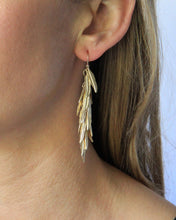 Load image into Gallery viewer, Shimmer Feather Earrings