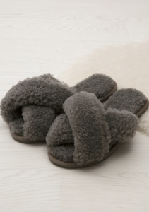 Shearling Crossover Slippers