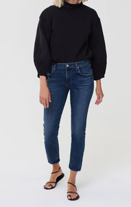 Elsa Mid Rise Slim Fit Crop Jeans