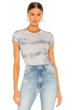Load image into Gallery viewer, Silk Rib Cap Sleeve Crew Tee