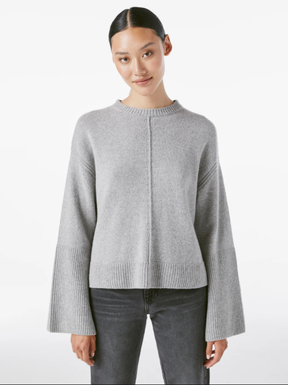 Bell Sleeve Crew Sweater