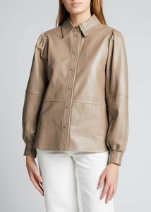Lamb Leather Button Down