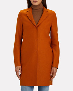 Cocoon Coat Light Pressed Wool
