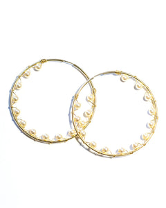 Inside Out Pearl Hoops