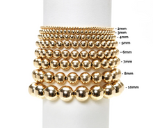 Load image into Gallery viewer, 3mm Yellow Gold Filled Bracelet with 3 White Pearl Pattern