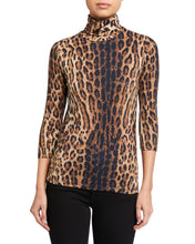 Load image into Gallery viewer, Aja Leopard Turtleneck