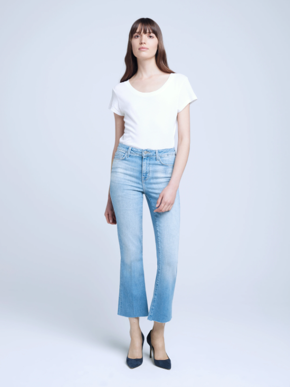 Kendra High Rise Crop Flare