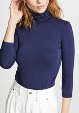 Load image into Gallery viewer, Aja Navy Turtleneck