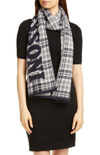 Load image into Gallery viewer, Plaid Logo Scarf