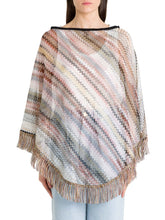 Load image into Gallery viewer, Zig Zag Stripe Poncho