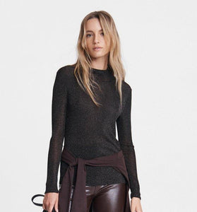 Cherie Lurex Turtleneck
