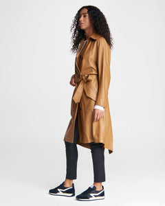 Classic Leather Trench