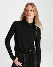 Load image into Gallery viewer, The Rib Knit Tie Turtleneck