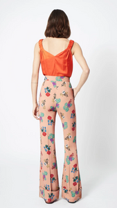 Cuffed Trouser in Botanical Print