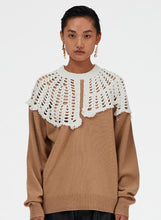 Load image into Gallery viewer, Lana Crochet Collar Pullover
