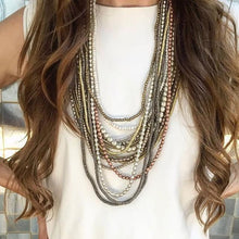 Load image into Gallery viewer, Metallic Layer Necklace Set