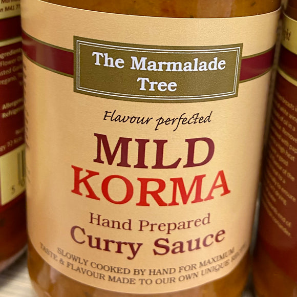 The Marmalade Tree - Mild Korma Curry Sauce