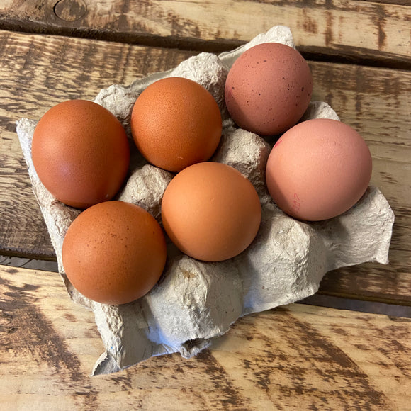 6 Farm Fresh Eggs