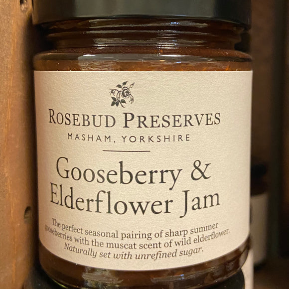 Rosebud Preserves - Gooseberry & Elderflower Jam