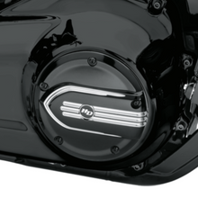 Load image into Gallery viewer, Harley-Davidson® Defiance Derby Cover - Black Machine Cut - 25700964