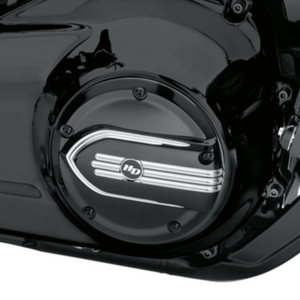 Harley-Davidson® Defiance Derby Cover - Black Machine Cut - 25700964
