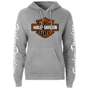 Port City Women's Harley-Davidson B&S Grey Hoodie