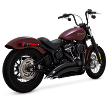 Load image into Gallery viewer, Vance & Hines BIG RADIUS 2-INTO-2 - Black - 46077 -SOFTAIL 2018+