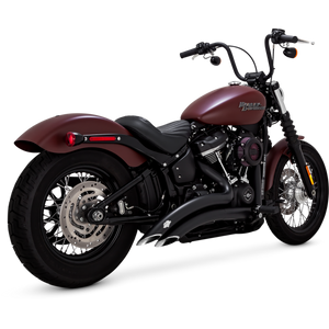 Vance & Hines BIG RADIUS 2-INTO-2 - Black - 46077 -SOFTAIL 2018+