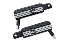 Load image into Gallery viewer, Harley-Davidson® Defiance Footpegs - Black Anodized Machine Cut - SPORTSTER - 50500536