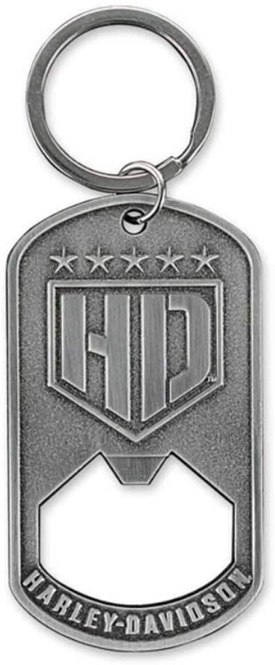Harley-Davidson® Bottle Opener Resolute Stainless Steel Keychain - BO34306.