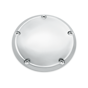 Harley-Davidson® Classic Chrome Derby Cover- 60766-06.  From the design philosophy of less is more, we bring you this collection of basic chrome accessories, which provide a clean, custom look that is guaranteed to turn heads.