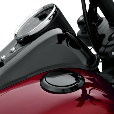 Harley-Davidson® Flush-Mount Fuel Cap and Left Side Tank Cap Kit - Black - 61100136 - Softail.