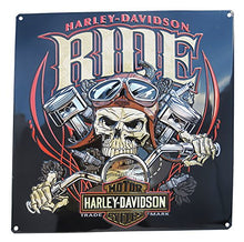 Load image into Gallery viewer, Harley-Davidson® Ride Bone Tin Sign - 2010961