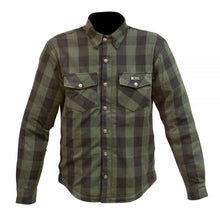 Load image into Gallery viewer, Merlin Axe Zip Up Kevlar® Shirt Jacket - Green Check