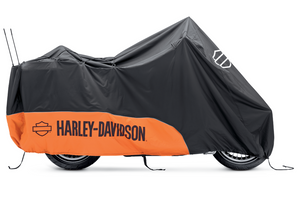 Harley-Davidson® Indoor/Outdoor Motorcycle Cover - ORANGE / BLACK - TOURING - 93100023