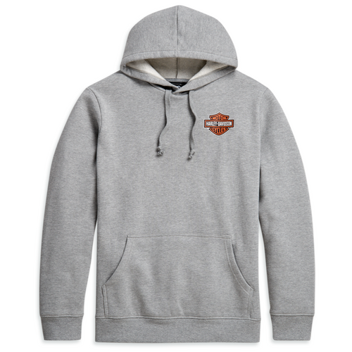 Harley-Davidson® Men's Logo Pullover Hoodie -  Heather Grey - 96206-21VM