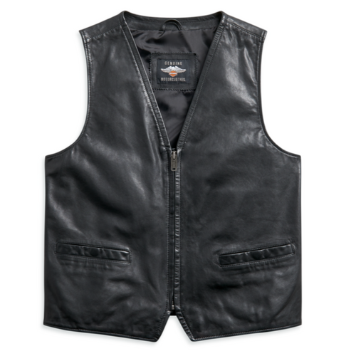Harley-Davidson® Men's Leather Vest - 97010-21VM
