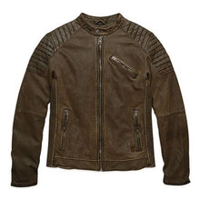 Load image into Gallery viewer, Harley-Davidson® Men's Stitched Lambskin Fashion Leather Jacket