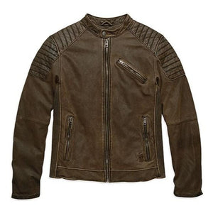 Harley-Davidson® Men's Stitched Lambskin Fashion Leather Jacket