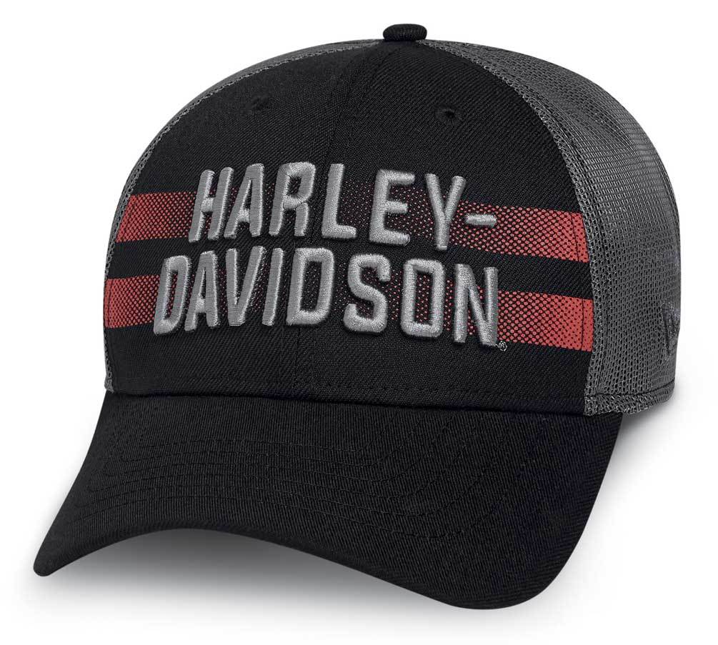 Harley-Davidson® Men's Mesh Back 39THIRTY Stretch Fit Baseball Cap