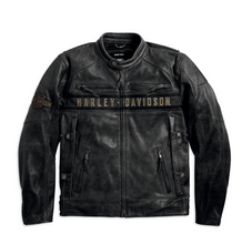 Load image into Gallery viewer, Harley-Davidson® Men's Passing Link Triple Vent Leather Jacket - 98074-14VM