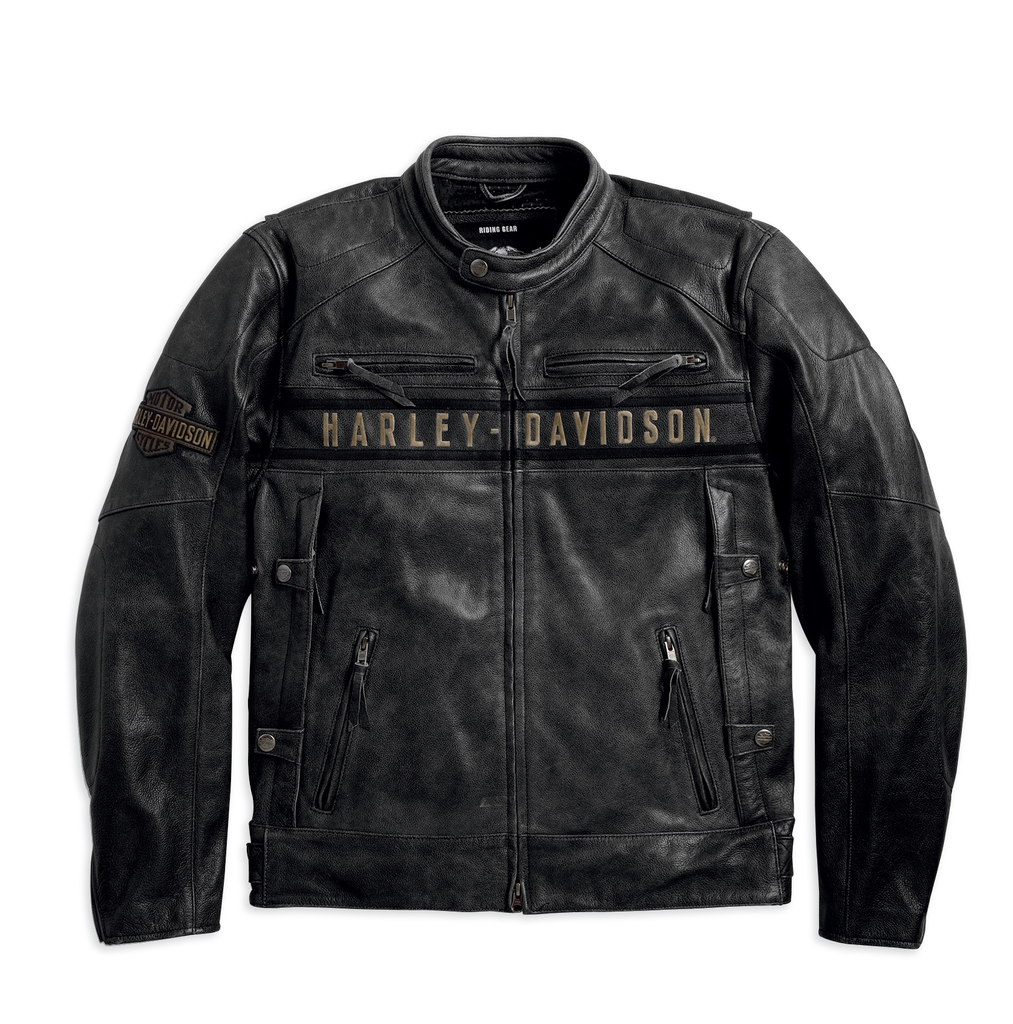 Harley-Davidson® Men's Passing Link Triple Vent Leather Jacket - 98074-14VM