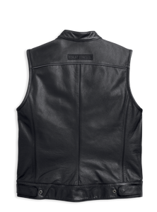 Harley-Davidson® Men's Foster Leather Vest - 98090-15VM.